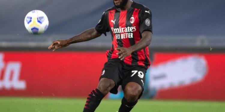 Gelandang AC Milan Franck Kessie
