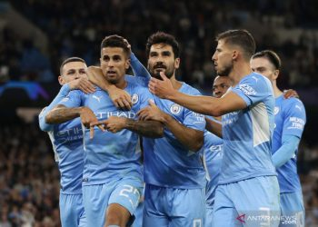Manchester City gasak Leipzig dalam laga diwarnai hujan sembilan gol