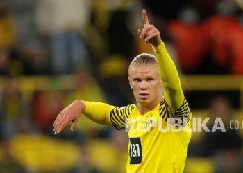 Pemain Dortmund Erling Haaland
