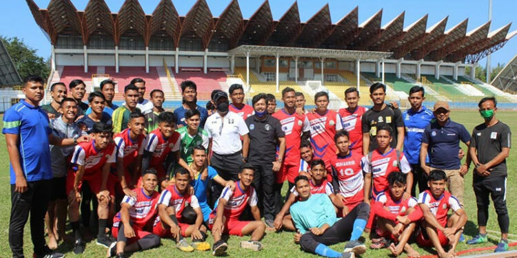 Tim sepak bola Aceh jalani pemusatan latihan di Surabaya