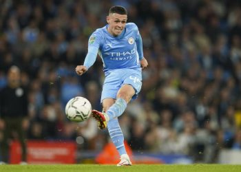 Pemain Manchester City Phil Foden.