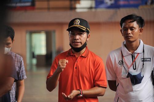 Farid Nyak Umar memompa semangat pemain futsal Banda Aceh | Foto HUMAS DPRK