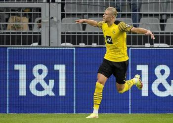 Pemain Borussia Dortmund Erling Haaland.