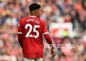 Pemain muda Manchester United Jadon Sancho.