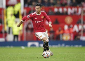 Pemain depan Manchester United Cristiano Ronaldo.
