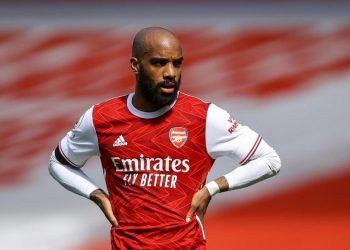 Penyerang Arsenal Alexandre Lacazette.