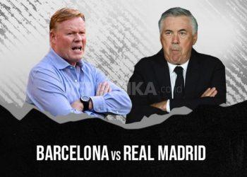 Barcelona vs Real Madrid, adu taktik Ronald Koeman (kiri) dan Carlo Ancelotti.