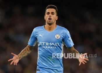 Pemain Manchester City Joao Cancelo