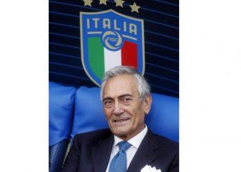 Presiden Federasi Sepak Bola Italia (FIGC) Gabriele Gravina.