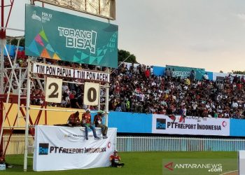 Ricky Cawor dwigol, Papua ungguli Aceh 2-0 hingga turun minum