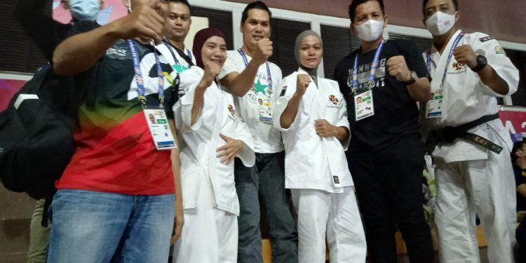 Anggota DPRA Bardan Sahidi ikut memberi dukungan langsung kepada dua kensi Aceh yang melaju ke babak semifinal @IST